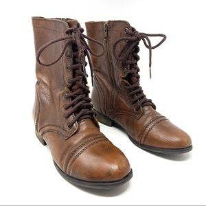 Steve Madden Troopa brown leather boots sz 8.5